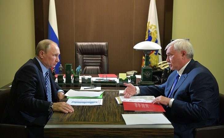 Рабочая встреча сгубернатором Санкт-Петербурга Георгием Полтавченко.