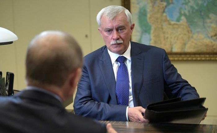 Владимир Путин провёл рабочую встречу сгубернатором Санкт-Петербурга Георгием Полтавченко