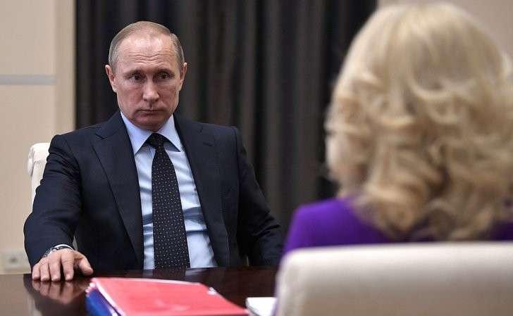 Входе встречи спредседателем Счётной палаты Татьяной Голиковой.