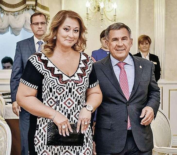 Рустам Минниханов с супругой, которая стала самой зажиточной среди первых леди регионов. Фото: twitter.com