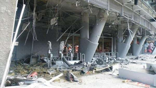 Войска карателей разбомбили стадион донецкого «Шахтёра»