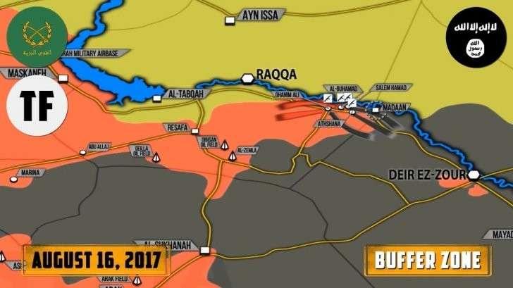 Сирия: контратака ИГИЛ у Ефрата, боевики США сбили сирийский истребитель