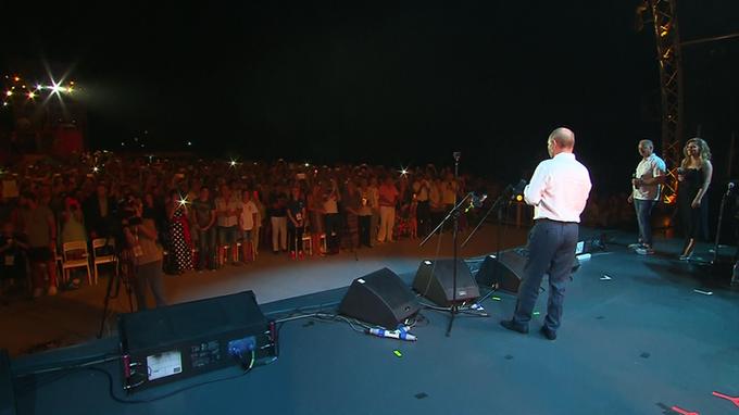 Владимир Путин посетил международный джазовый фестиваль в Коктебеле