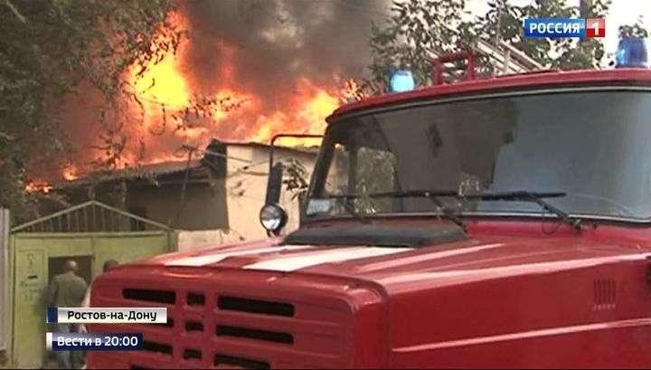 Пожар в Ростове-на-Дону уничтожил 25 домов, жители винят в поджоге чёрных риелторов