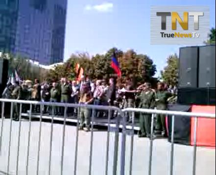 Лайв из Донецка, парад, провод военопленных!