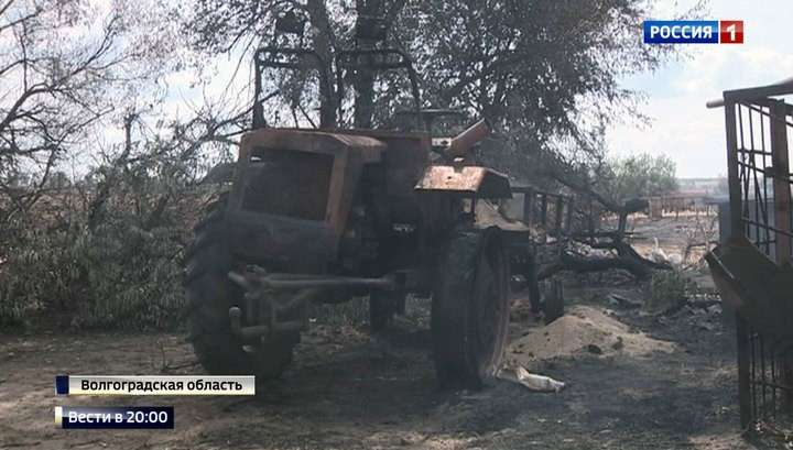 Под Волгоградом сильнейшие пожары, огонь уничтожил целое село
