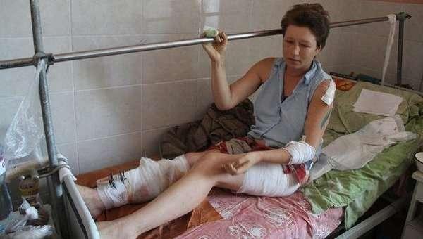В Луганске начали раздавать российскую гуманитарную помощь