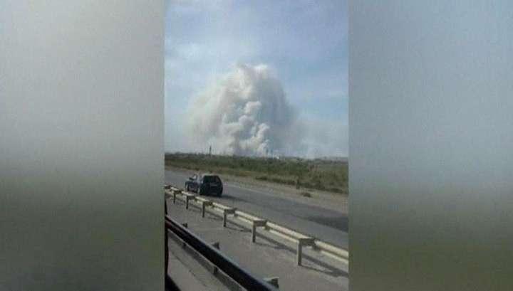 В Азербайджане взрыв на военном складе разбросал снаряды и ракеты далеко по округе