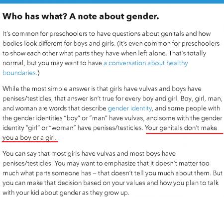 Жителям США порекомендовали не определять пол детей по половым органам