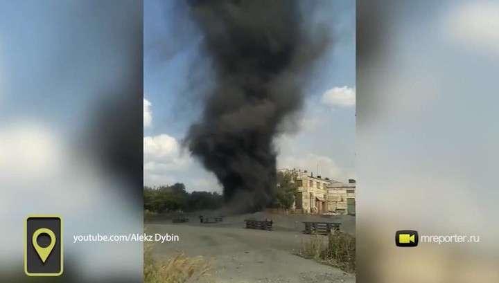 Челябинск: черный смерч из шлака напугал очевидцев события