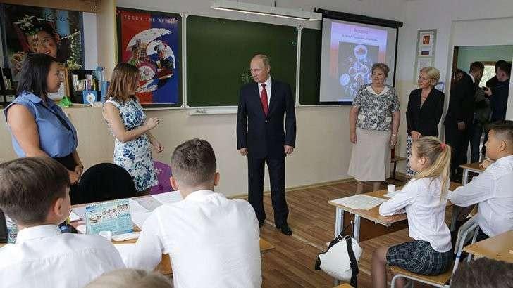 Владимир Путин проведет открытый урок для школьников России