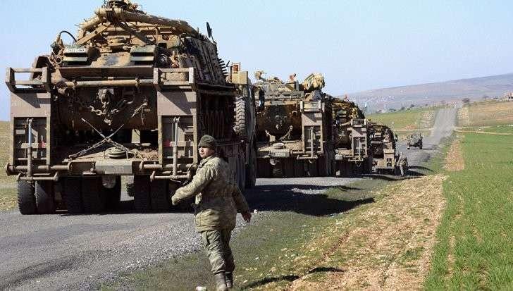 Турецкая артиллерия обстреляла, находящийся под курдами сирийский город Африн