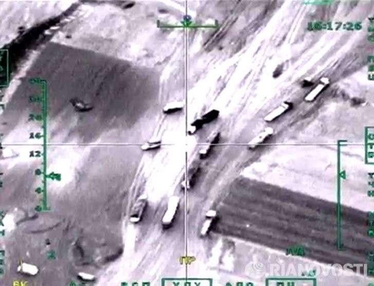 Сирия: минобороны России обнародовало видео уничтожения боевиков у Дейр-эз-Зора