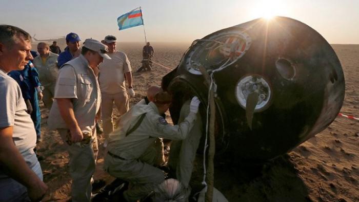 Спускаемая капсула корабля «Союз МС04» успешно приземлилась в Казахстане