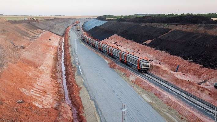 Строительство железной дороги вобход Украины