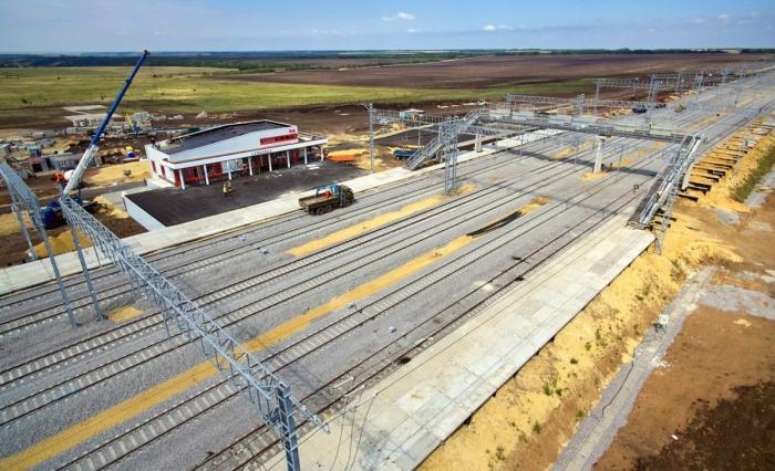 Строительство железной дороги в обход Украины пока ещё продолжается