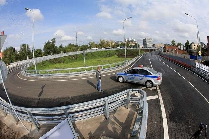 ВМоскве открыты эстакады наразвязке Северо-Восточной хорды сшоссе Энтузиастов