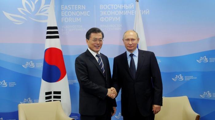 Владимир Путин, Южная Корея: «Россия не признаёт ядерный статус КНДР»