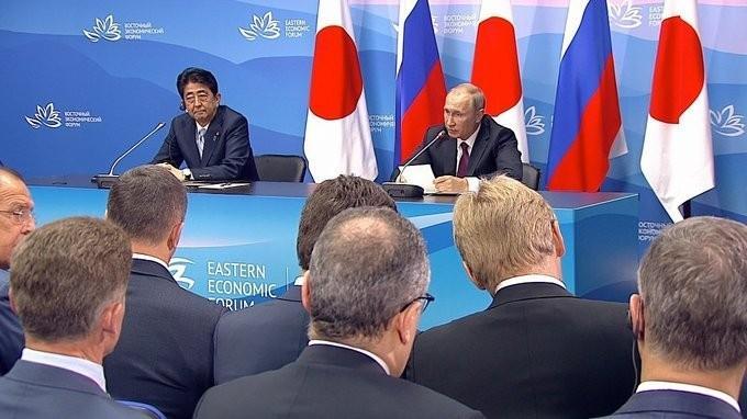 Владимир Путин и Синдзо Абэ сделали заявления для прессы поитогам переговоров