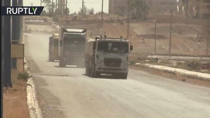 Сирия в Дейр эз-Зор направила первую колонну с гуманитарной помощью