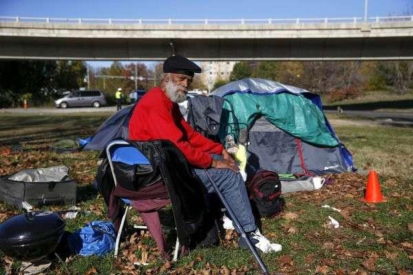 бездомный США
