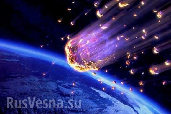 Кубань: появились кадры падения метеорита