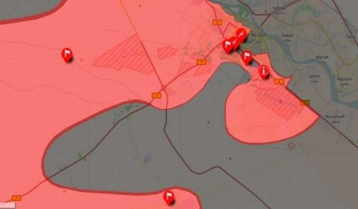 Минобороны заявило о сокрушительном поражении ИГИЛ в районе Дейр-эз-Зора