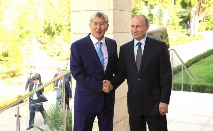 Владимир Путин провёл встречу сПрезидентом Киргизии Алмазбеком Атамбаевым