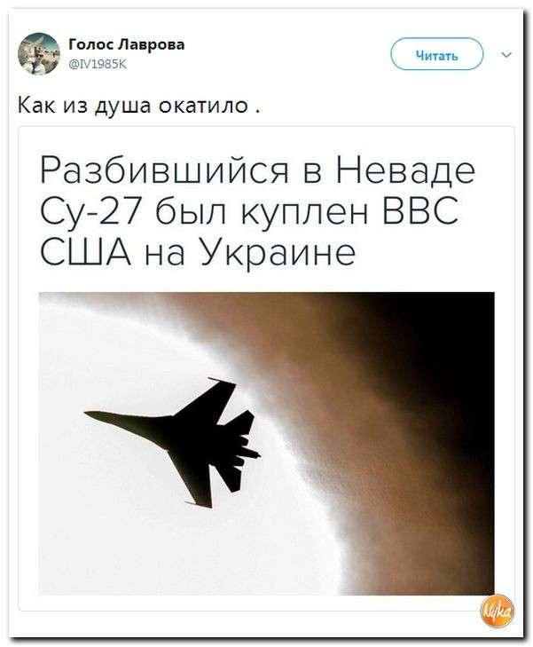 Юмор помогает нам пережить смуту: в США сбит сепаратистский самолёт