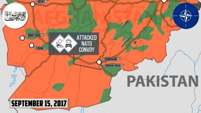 Афганистан: атака Талибана на конвой НАТО возле Кандагара увенчалась успехом