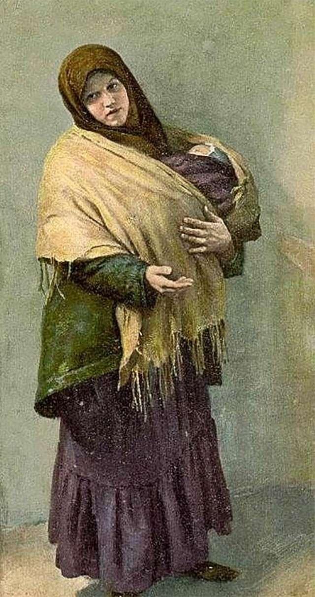 Клавдий Лебедев. Нищая. 1904