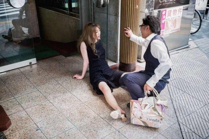 Пьяная японцы девушка видео