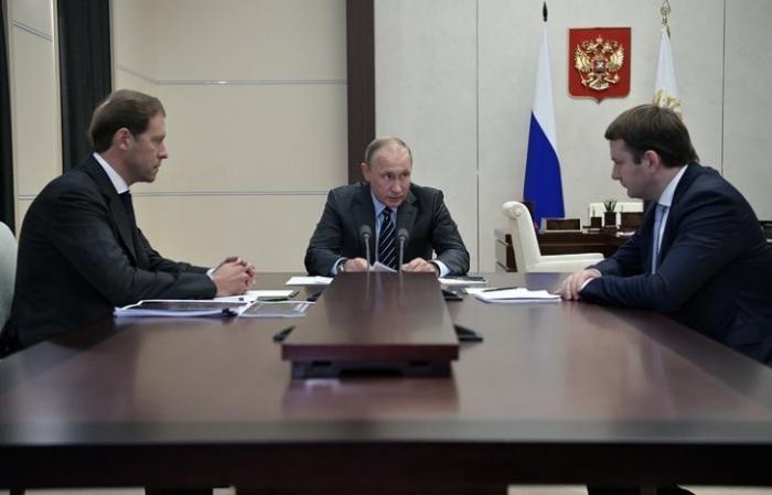 Владимир Путин обсудил с Орешкиным и Мантуровым, увеличение темпа роста экономики России