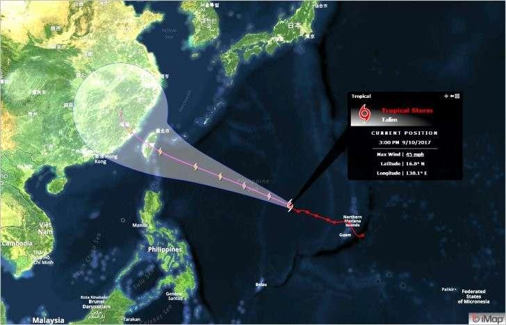 Климатическое оружие в действии: мистический шторм «Талим» запущенный с острова Гуам?
