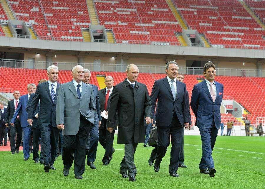 Владимир Путин посетил новый стадион московского «Спартака»
