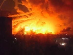 Винницкая область: горит и взрывается склад с боеприпасами карателей ВСУ как в Балаклее