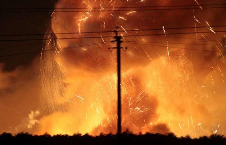 Пожар на складе в Калиновке Винницкой области