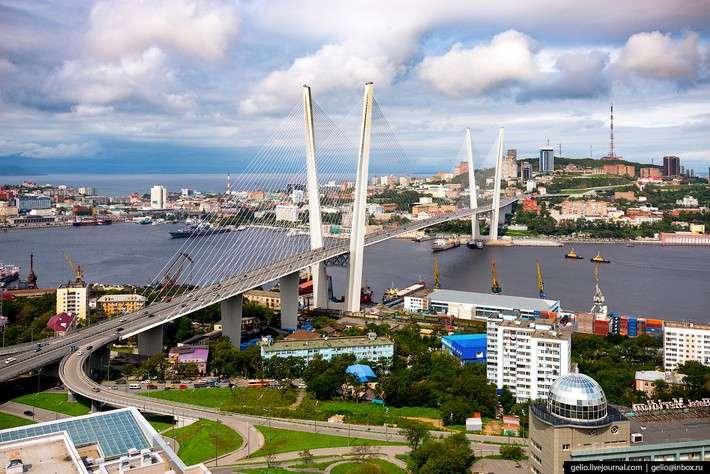 Владивосток свысоты. Город накраю России