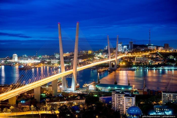 Владивосток свысоты птичьего полёта. Город накраю России