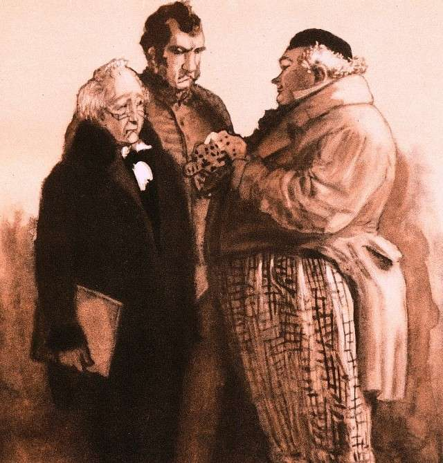 Ювеналий Коровин. Лука Лукич, Артемий Филиппович и Аммос Федорович