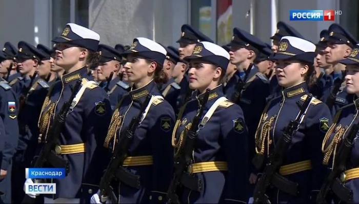 В Краснодарском авиаучилище 16 будущих военных летчиц приняли присягу
