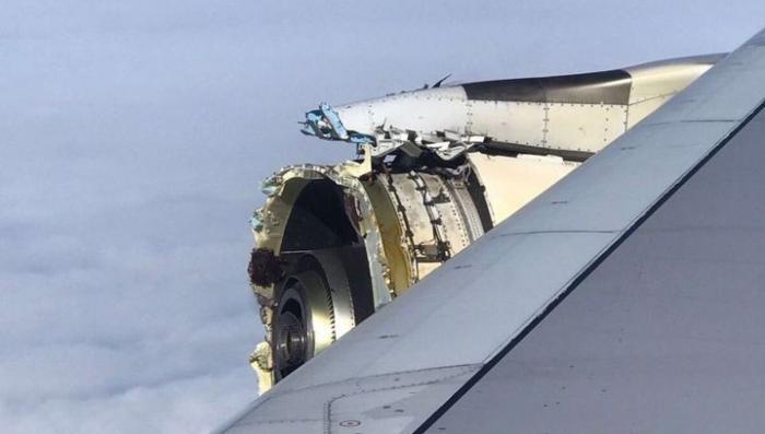 Аэробус с 500 пассажирами на борту потерял двигатель прямо в полёте