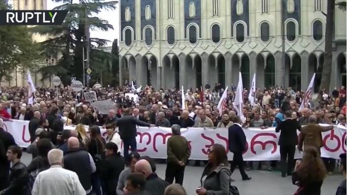 В Грузии прошёл марш за налаживание отношений с Россией