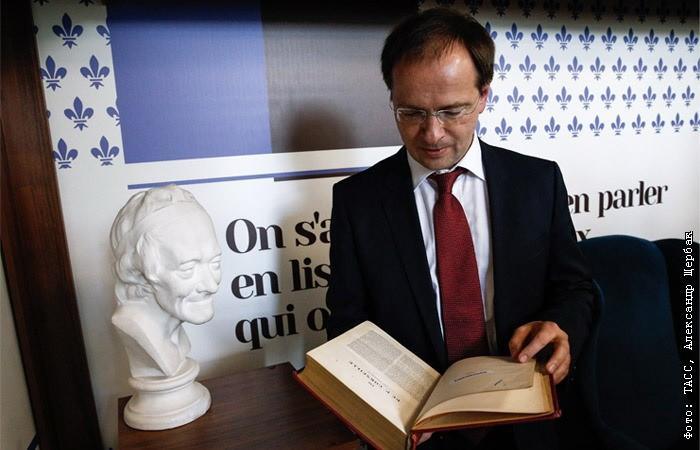 Экспертный совет ВАК рекомендовал лишить Владимира Мединского учёной степени