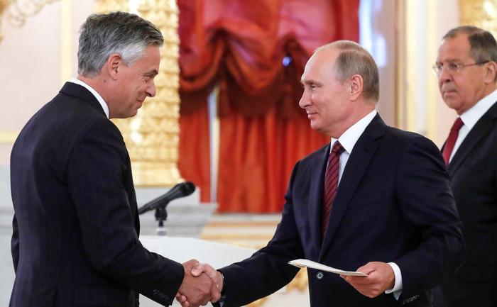Владимир Путин принял верительную грамоту нового посла США в России