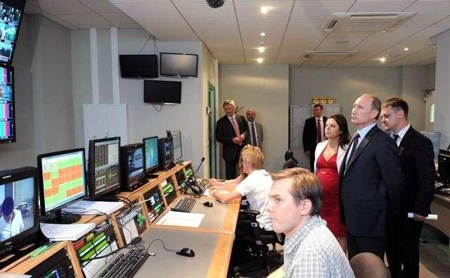 Владимир Путин в гостях телекомпании Russia Today