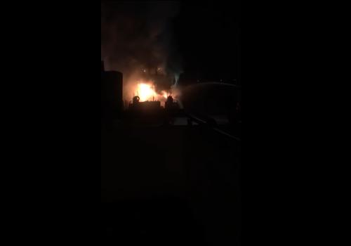 Омск: взрыв и пожар в речном порту