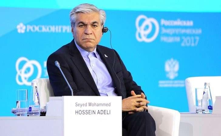 Генеральный секретарь Форума стран– экспортёров газа Сейед Мохаммад Хуссейн Адели напленарном заседании «Энергия для глобального роста» первого Международного форума поэнергоэффективности иразвитию энергетики «Российская энергетическая неделя».