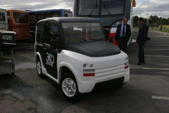 Российские инженеры создали электромобиль на4 моторах