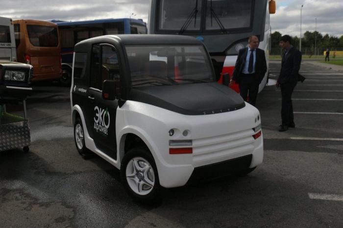 В России инженеры создали электромобиль начетырёх моторах